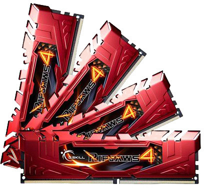 G.SKill Ripjaws4 32GB (4x8GB) DDR4 2400, CL15, red