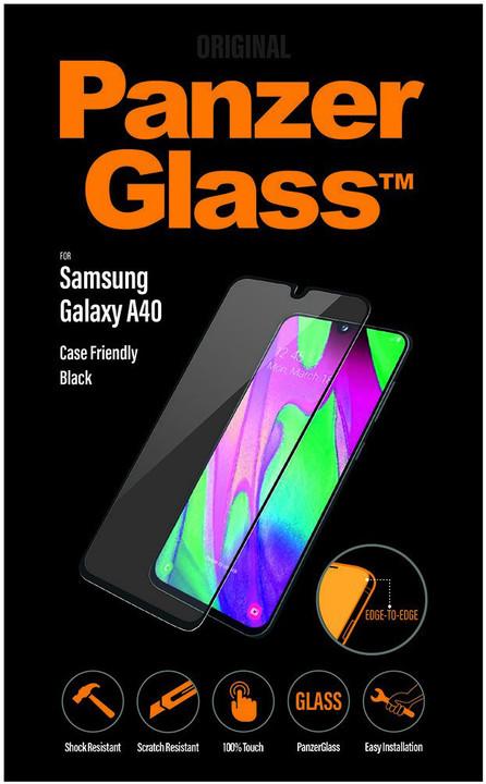 PanzerGlass Edge-to-Edge pro Samsung Galaxy A40, černá