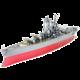 Stavebnice ICONX Yamato - válečná loď, kovová