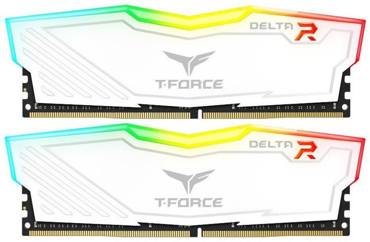 Team T-FORCE Delta RGB 16GB (2x8GB) DDR4 3000, white