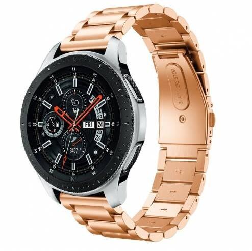 ESES řemínek pro Samsung watch 42mm/ gear sport/ watch active/ garmin vivoactive 3, růžovo/zlatá