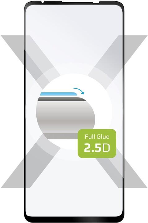 FIXED ochranné tvrzené sklo pro Motorola Moto G9 Plus, Full-Cover, 2.5D, černá