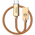 Mcdodo Knight rychlonabíjecí datový kabel microUSB s inteligentním vypnutím napájení, 1m, zlatá