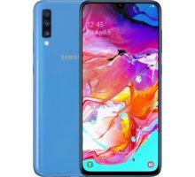 Samsung Galaxy A70, 6GB/128GB, modrá  + CZC 5000mAh WIRELESS POWERBANK - červená v hodnotě 499 Kč + DIGI TV s více než 100 programy na 1 měsíc zdarma + Elektronické předplatné čtiva v hodnotě 4 800 Kč na půl roku zdarma