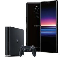 Sony Xperia 1, 6GB/128GB, černá + PS4 + hra Fortnite - SONYJ9110BK+PS4