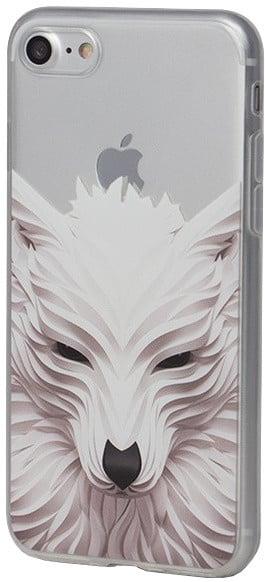 EPICO pružný plastový kryt pro iPhone 7 WHITE WOLF