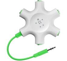 Belkin RockStar rozbočovací adaptér 5 portů 3.5 jack pro připojení sluchátek, bílá - F8Z274bt