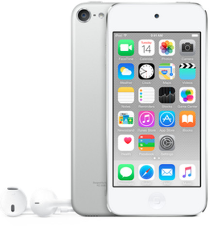 Apple iPod touch - 64GB, bílá/stříbrná, 6th gen.