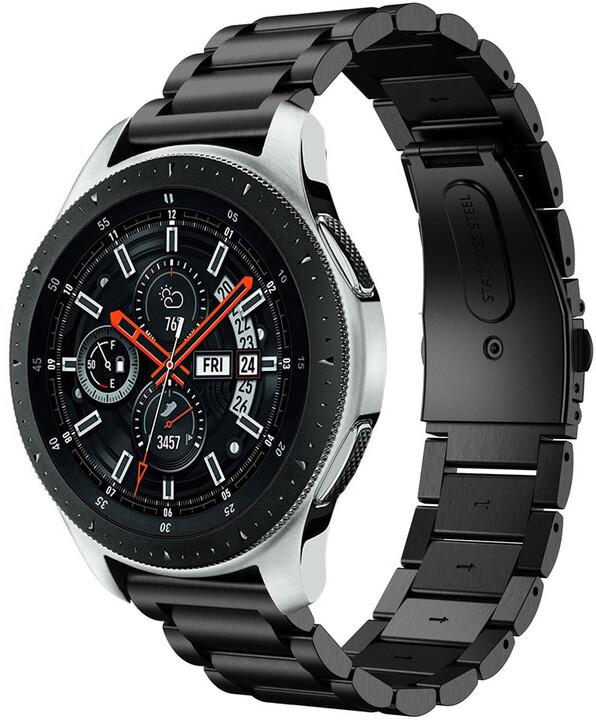 ESES kovový řemínek pro Samsung Watch 42mm/Samsung Gear Sport/ Garmin Vivoactive 3, černá