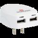 SKROSS USB nabíjecí adaptér USA, 2400mA, 2x USB výstup