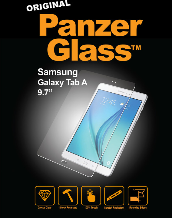 PanzerGlass ochranné sklo na displej pro Samsung Galaxy Tab A (9.7 palec), křišťálově čirá