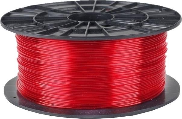 Plasty Mladeč tisková struna (filament), PETG, 1,75mm, 1kg, transparentní červená