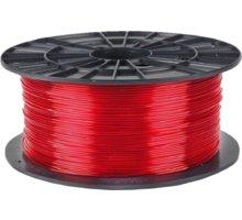 Filament PM tisková struna (filament), PETG, 1,75mm, 1kg, transparentní červená - F175PETG_TRE