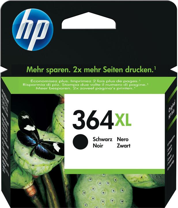 HP CN684EE (364XL), černá – ušetřete až 50 % oproti standardní náplni