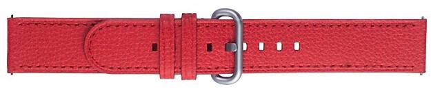 Samsung výměnný pásek pro Watch Active 2, kožený, červená