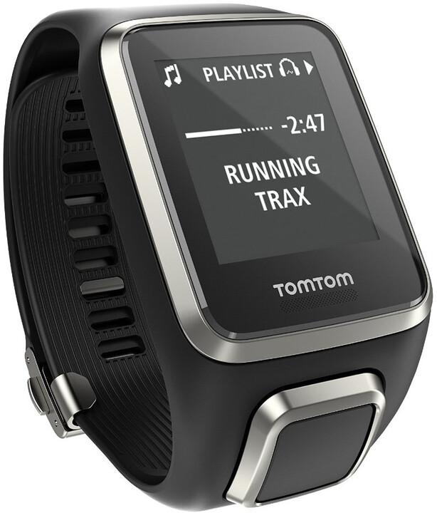 TOMTOM Spark Fitness Premium Edition Cardio + Music (L), černá