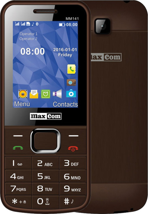 Maxcom MM141, Dual Sim, hnědá