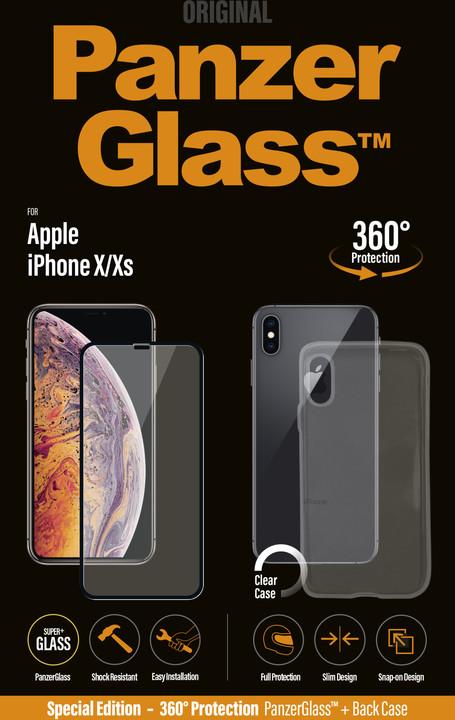 PanzerGlass Premium Bundle pro Apple iPhone Xs, černé + pouzdro