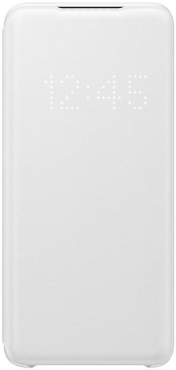Samsung flipové pouzdro LED View pro Galaxy S20, bílá