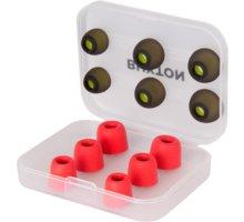 BUXTON náhradní koncovky pro sluchátka, červená - BET 100 RED