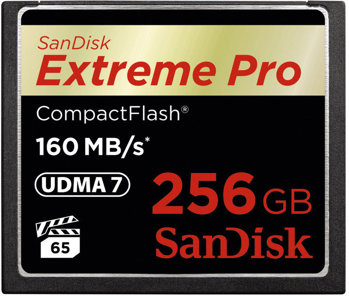 SanDisk CompactFlash Extreme Pro 256GB 160MB/s