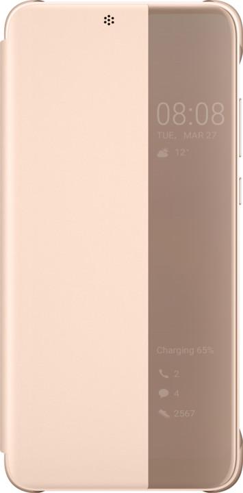 Huawei Original S-View Cover Pouzdro pro P20, růžová