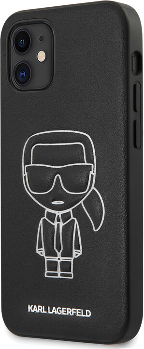"KARL LAGERFELD ochranný kryt Embossed pro iPhone 12 Mini (5.4""), bílá"