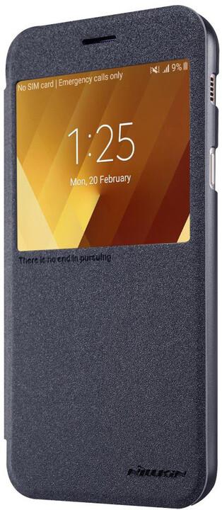 Nillkin Sparkle S-View pouzdro pro Samsung A320 Galaxy A3 2017 - černé