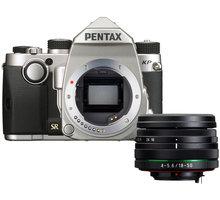 Pentax KP + DAL 18-50mm WR, stříbrná - 1603700 + Objektiv Pentax DA 50mm F1.8 v hodnotě 4 090 Kč