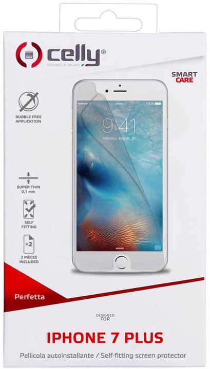 CELLY prémiová ochranná fólie displeje pro Apple iPhone 7 Plus, lesklá, 2ks