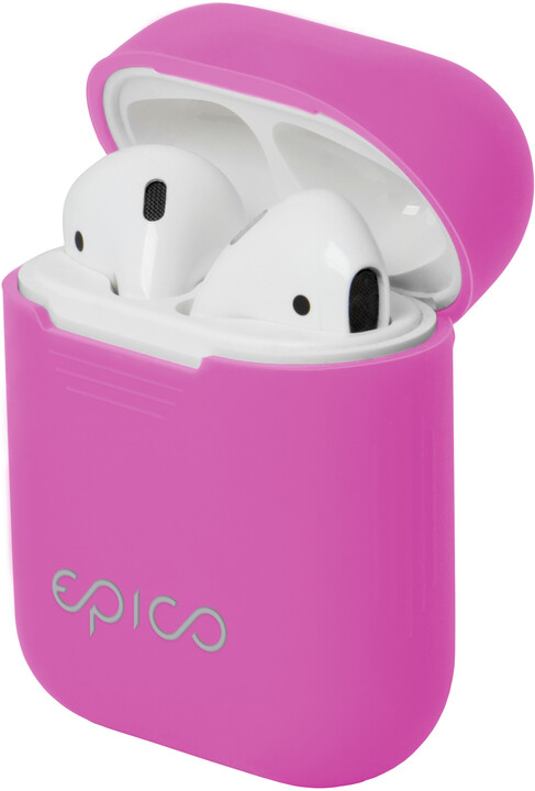 EPICO Airpods pouzdro, tmavě růžová