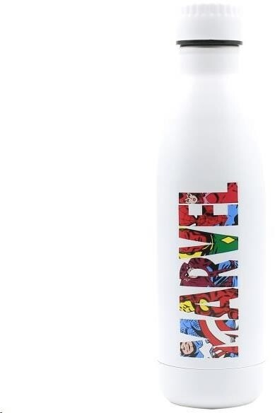 Puro Disney láhev z nerezové oceli MARVEL COMICS, single wall, 750ml White