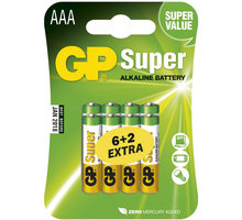 GP AAA Super alkalická - 8 ks (6 + 2)