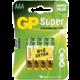 GP AAA Super alkalická - 8 ks (6 + 2)