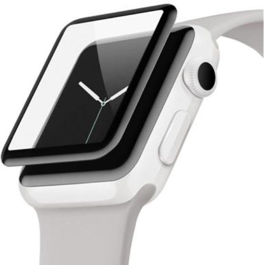 Belkin UltraCurve ochranné sklo pro Apple Watch Series 2/3 zahnuté (42 mm)-water resistant