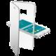 CellularLine Clear Book pouzdro typu kniha pro Samsung Galaxy S6, stříbrná