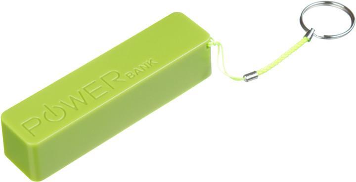 CONNECT IT COLORZ powerbank 2600 mAh, 1A, zelený