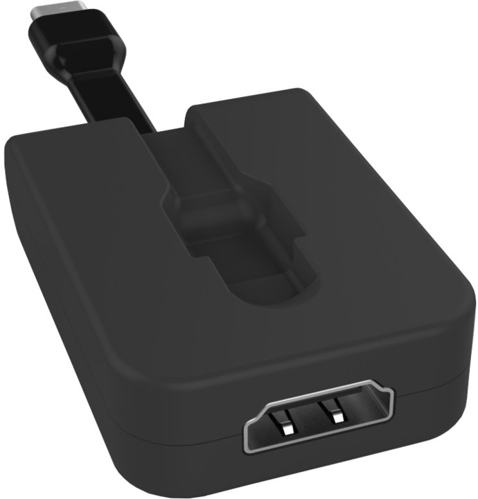 PremiumCord Adaptér USB 3.1 Typ-C male na HDMI female,zasunovací kabel a kroužek na klíče