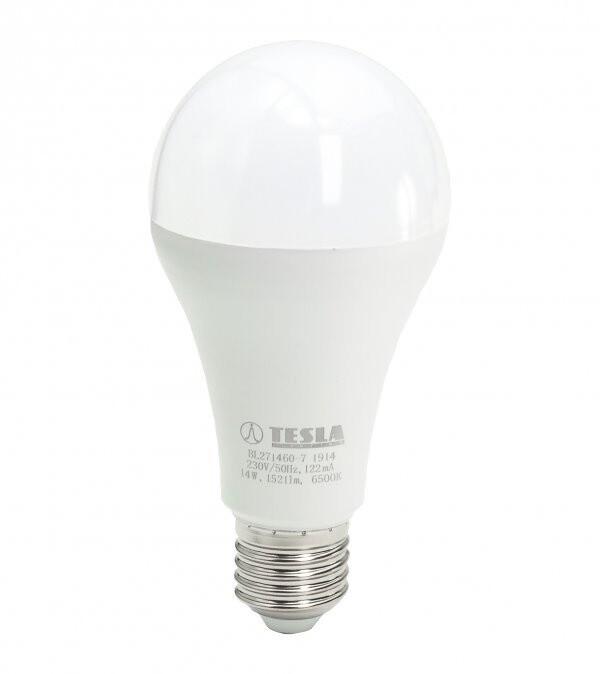 TESLA LED žárovka BULB E27, 14W, 6500K, studená bílá