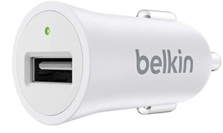 Belkin USB nabíječka MIXIT Metallic do autozásuvky 1x2.4A, bílá