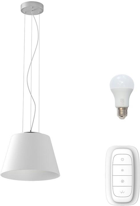 IMMAX NEO CONO závěsné svítidlo bílé sklo 32cm včetně Smart zdroje E27 RGBW