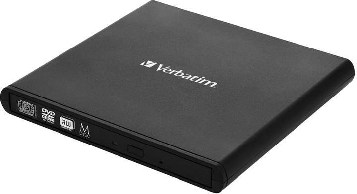 Verbatim Slimline, externí, USB 2.0, černá