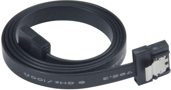 Akasa SATA 3.0, super tenký, 50cm, černá