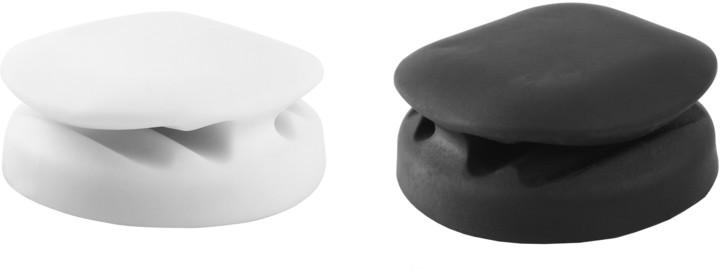 MAX kabelový klip 2ks, černá/bílá