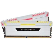 Corsair Vengeance RGB LED 16GB (2x8GB) DDR4 3600, bílá CL 18 CMR16GX4M2C3600C18W