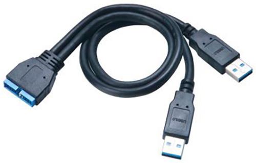 Akasa USB 3.0, interní, USB kabel, 30cm