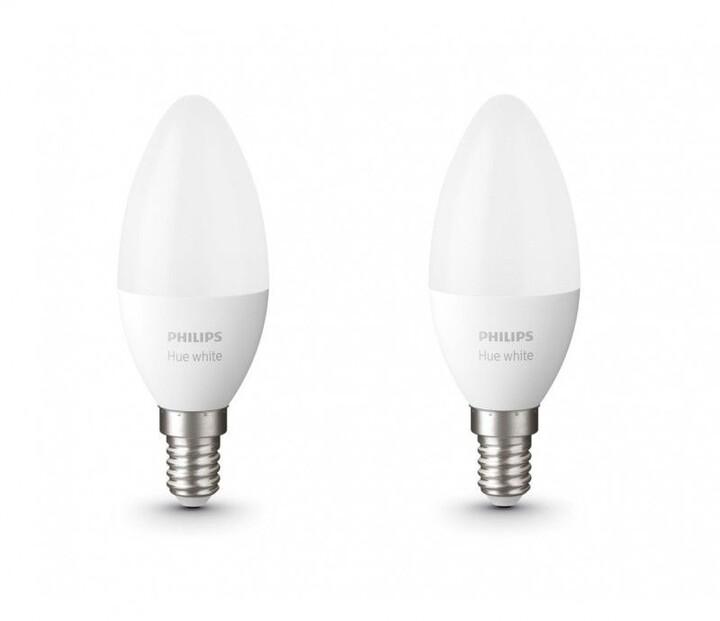Philips žárovka Hue E14, LED, 5.5W, Bluetooth, 2ks
