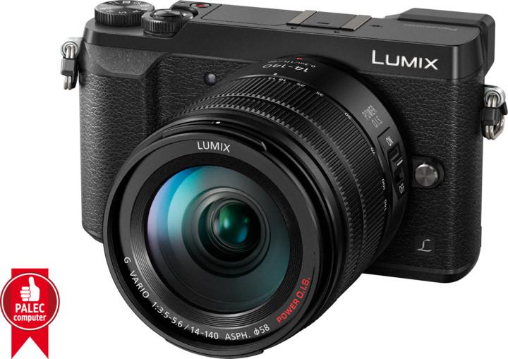 Panasonic Lumix DMC-GX80, černá + 14-140 mm