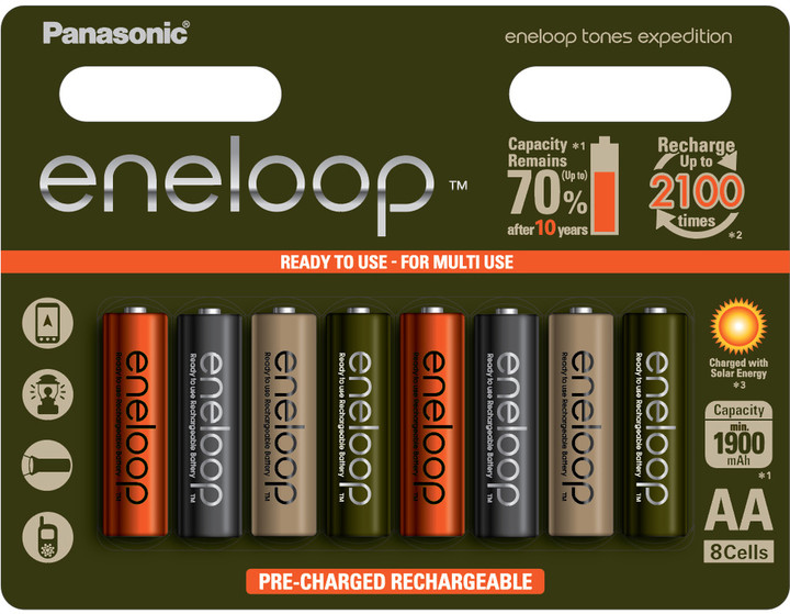 Panasonic ENELOOP HR6 AA 3MCCE/8RE 1900mAh Expedition pack