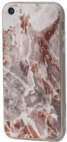 EPICO pružný plastový kryt pro iPhone 5/5S/SE MARBLE - rose